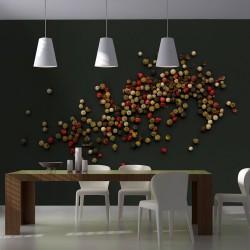 Fototapeta - Kompozycja z kolorowego pieprzu