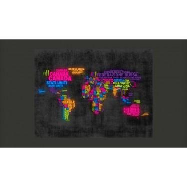 Fototapeta  mapa, po włosku  kolory