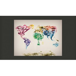 Fototapeta  Dancing smoke trails