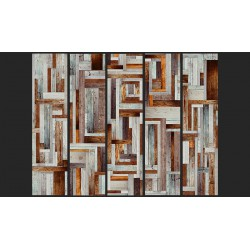 Fototapeta  Labirynt z drewnianych desek