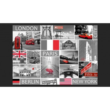 Fototapeta  London, Paris, Berlin, New York