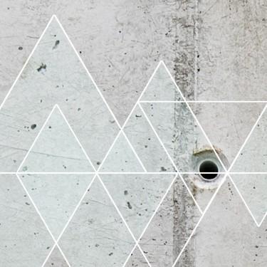 Fototapeta  Beton i trójkąty