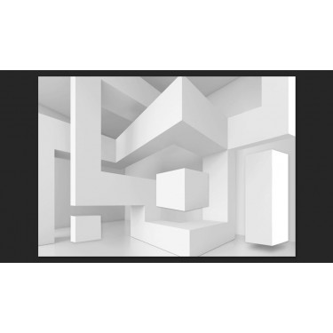 Fototapeta  Biała geometria