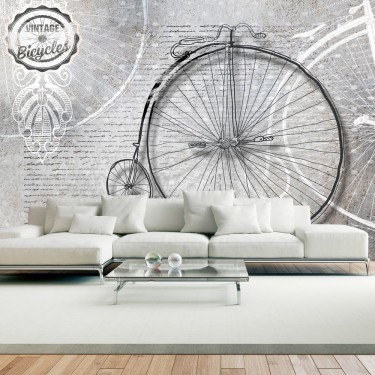 Fototapeta  Vintage bicycles  black and white