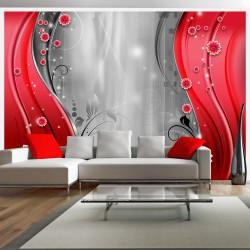 Fototapeta - Za zasłoną czerwieni