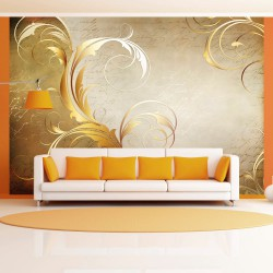 Fototapeta  Złoty liść