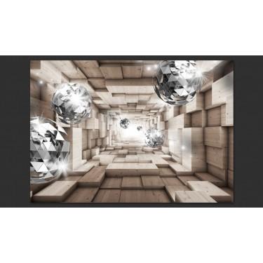 Fototapeta  W drewnianym tunelu