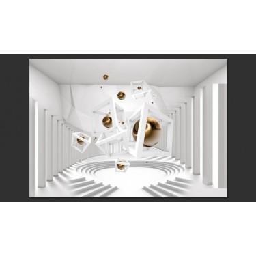 Fototapeta  Geometryczny korytarz