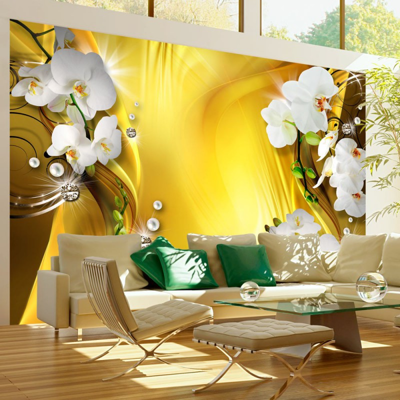 Fototapeta  Orchidea w złocie