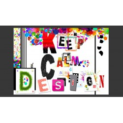Fototapeta  Keep Calm and Design