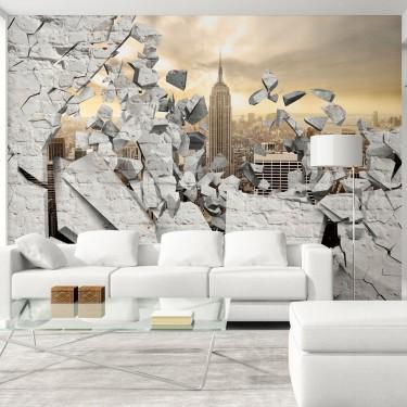 Fototapeta  NY  Miasto za ścianą