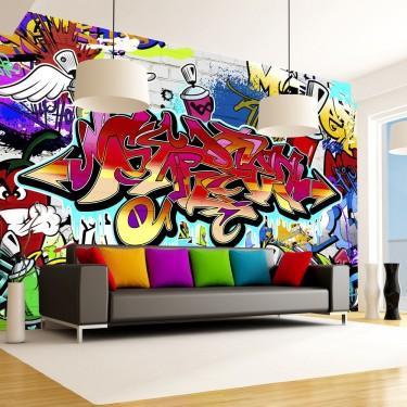 Fototapeta  Street art czerwony motyw