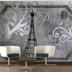 Fototapeta - Vintage Paris - srebrny