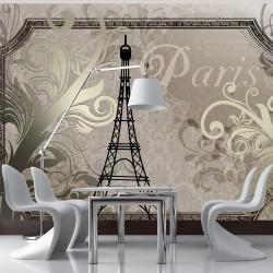 Fototapeta - Vintage Paris - złoty