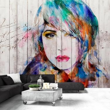 Fototapeta  Portret na drewnie