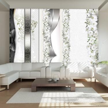 Fototapeta  Parada orchidei w odcieniach szarości