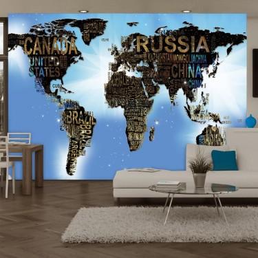 Fototapeta  Mapa świata  Niebieskie natchnienie