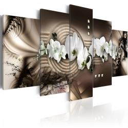 Obraz - Piasek, orchidea, Zen