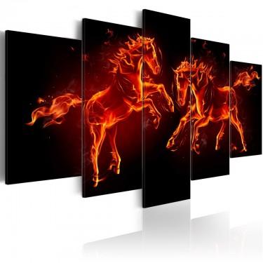 Obraz  Ogniste konie