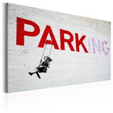 Obraz  Parking Girl Swing by Banksy