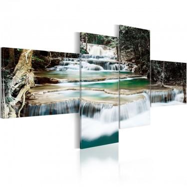 Obraz  Leśne kaskady