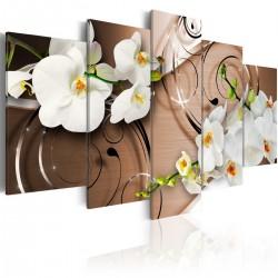Obraz - Orchidee w kolorze kości słoniowej