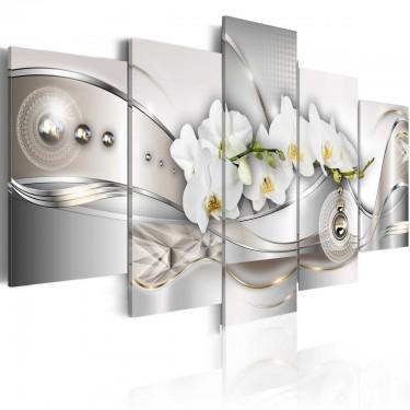 Obraz  Perłowy taniec orchidei