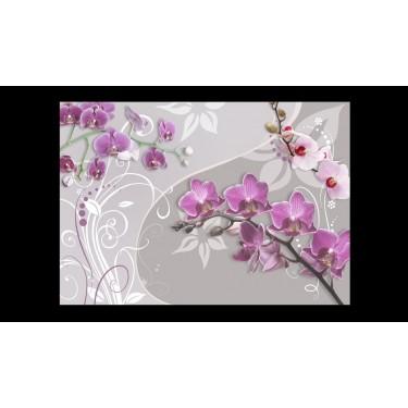 Fototapeta  Lot purpurowych orchidei