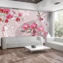 Fototapeta Lot różowych orchidei