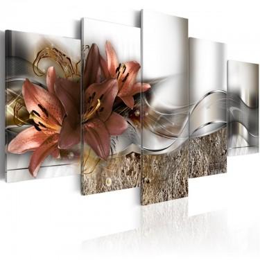 Obraz  Lilia marsala i abstrakcja
