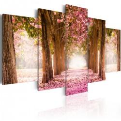 Obraz - Różowa alejka
