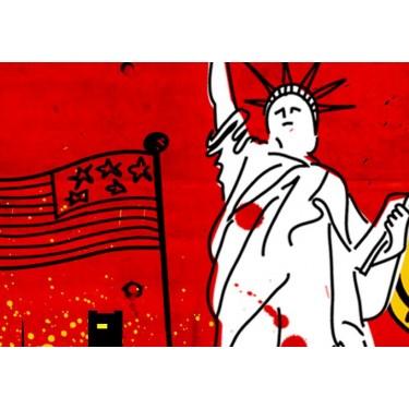 Obraz  Nowy Jork komiks