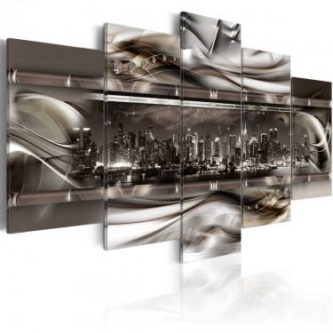 Obraz  Na grzbiecie metalowej fali
