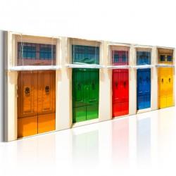 Obraz - Kolorowe drzwi