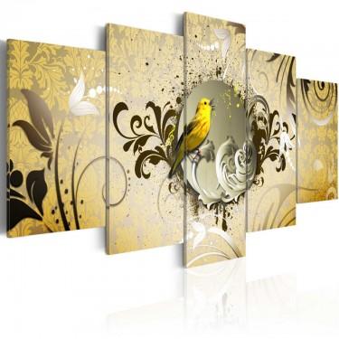 Obraz  Śpiew żółtego ptaka