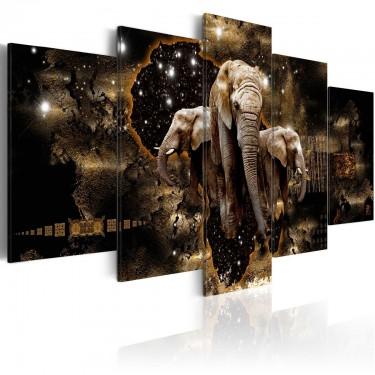 Obraz  Brązowe słonie