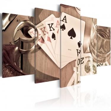 Obraz  Pokerowa noc  sepia