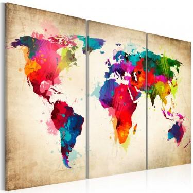 Obraz  Tęczowe kontynenty