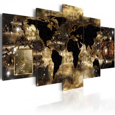 Obraz  Kontynenty z brązu