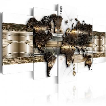 Obraz  Metaliczny świat