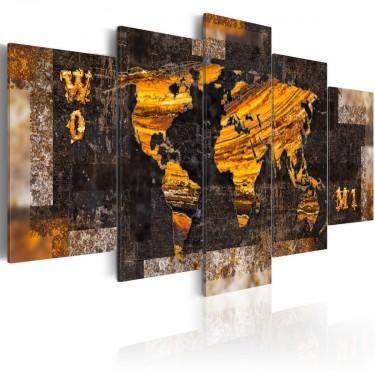 Obraz  Złote ścieżki