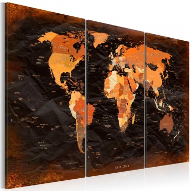 Obraz  Niezwykła mapa