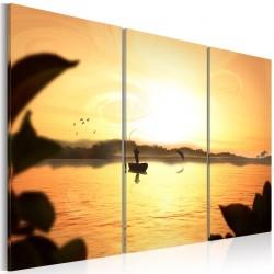 Obraz Wędkarz na jeziorze