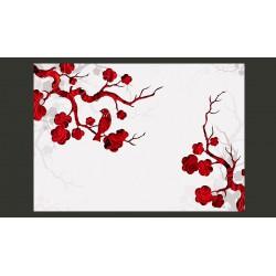 Fototapeta  Czerwony krzew
