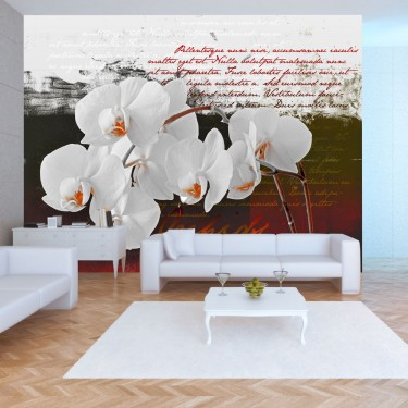 Fototapeta  Pamiętnik i orchidea