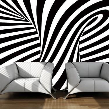 Fototapeta  op art czarnobiały