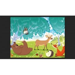 Fototapeta  Zwierzęta z Zielonego Lasu