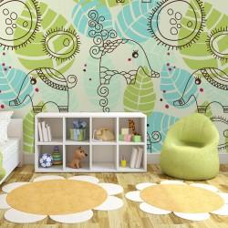 Fototapeta - słonie (dla dzieci)