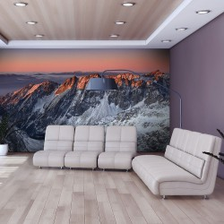 Fototapeta - Beautiful sunrise in the Rocky Mountains