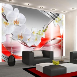 Fototapeta - Pomarańczowa fala orchidei